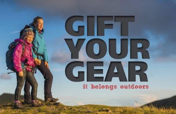 Gift Your Gear it belongs outdoors