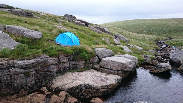 Tent East Dart Waterfall