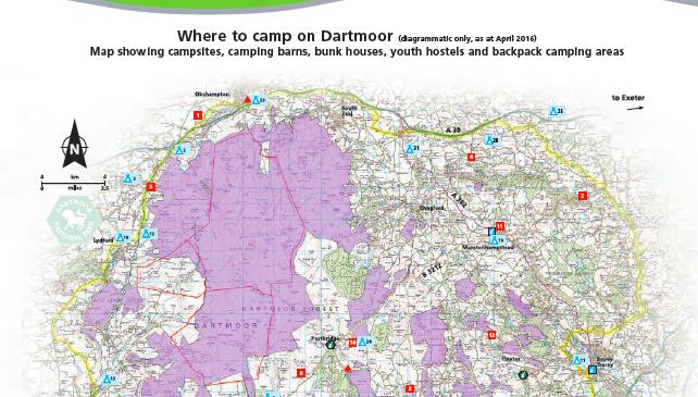 Dartmoor National Park Wild Camping Map   Dartmoor Hiking