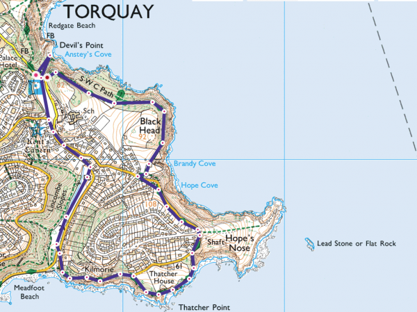 Anstey's Cove Circular OS Maps